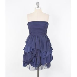 Alice + Olivia Ruched Tulle Strapless Dress